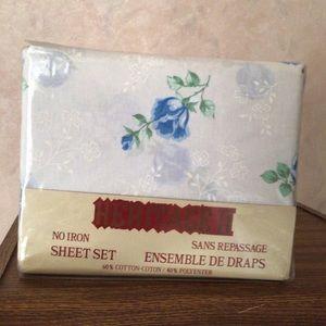 Vintage Heritage II twin set floral sheet set